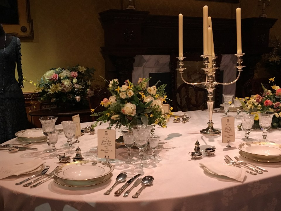 Downton Abbey The Exhibition Formal Dinner Table