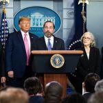 President Donald Trump Coronavirus Press Conference in Washington, USA