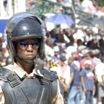 Cap-haitien,,Haiti,-,Nov,18,,Anti-riot,Soldier,Stands,In,Front