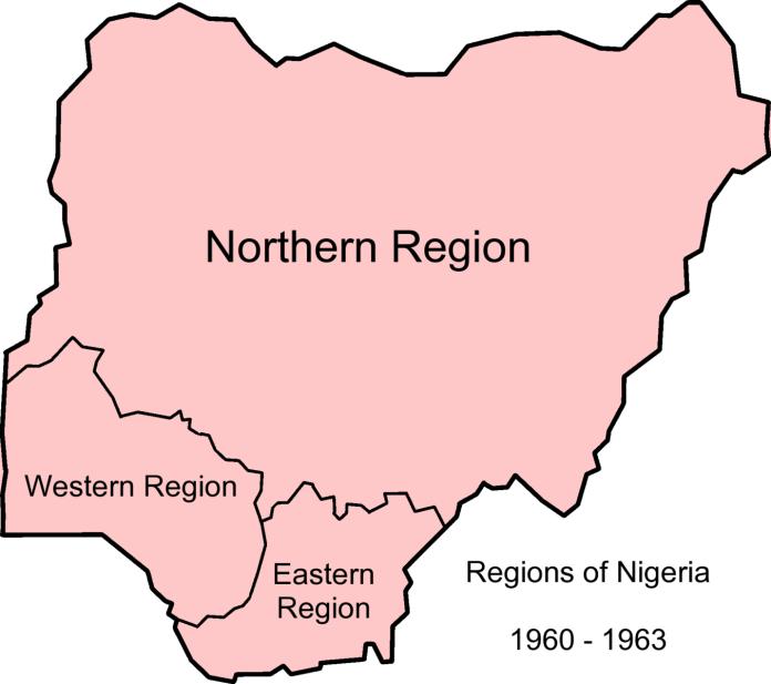 map of nigeria 1960-63