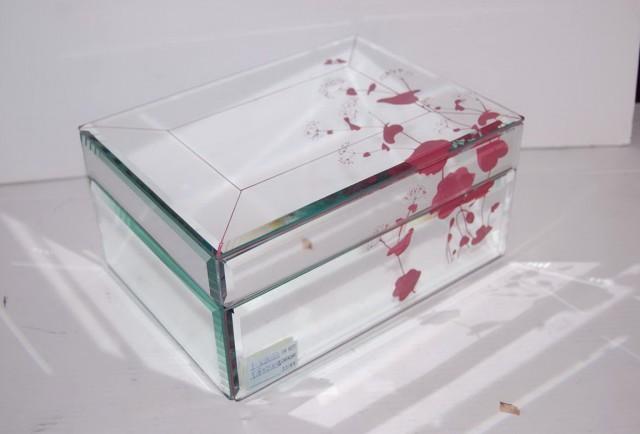 Glass Mirrored Jewelry Box
