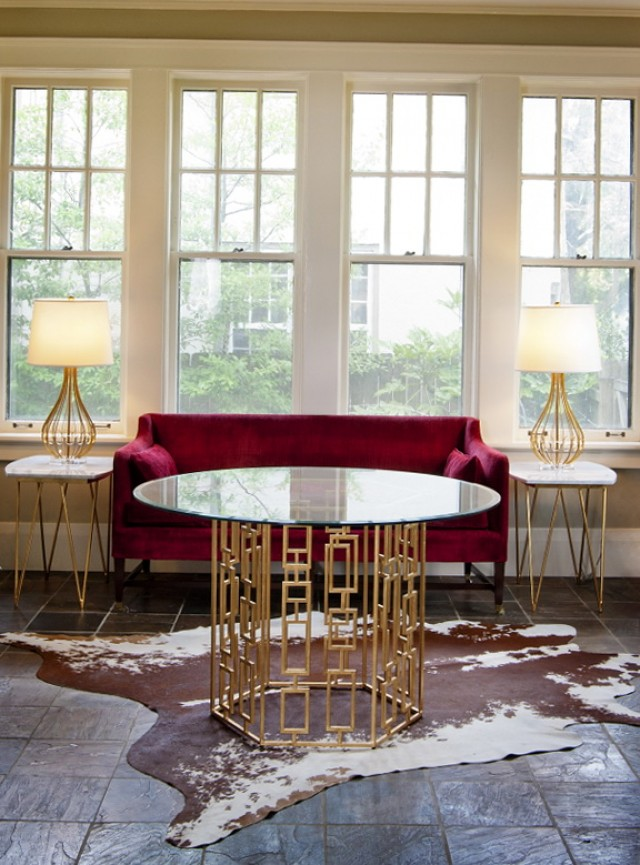 Gold Side Table Australia