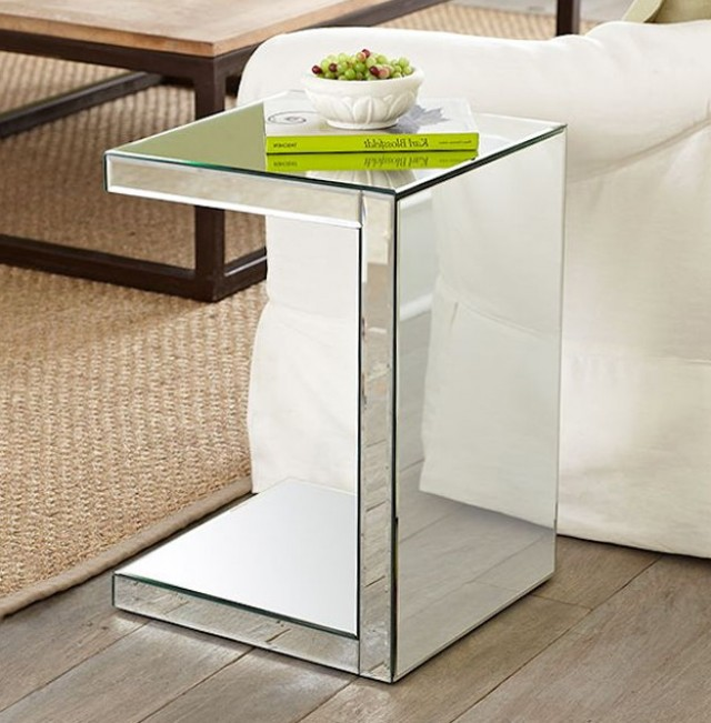Mirrored Side Table Target