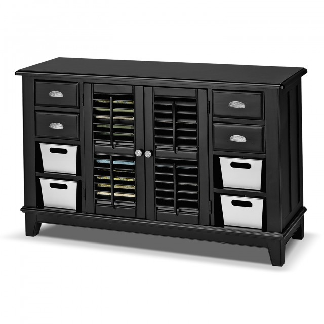Black Console Table With Doors