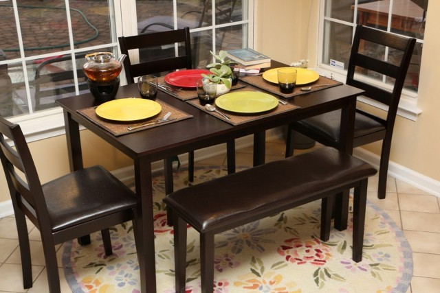 Dining Table With Bench Chairs