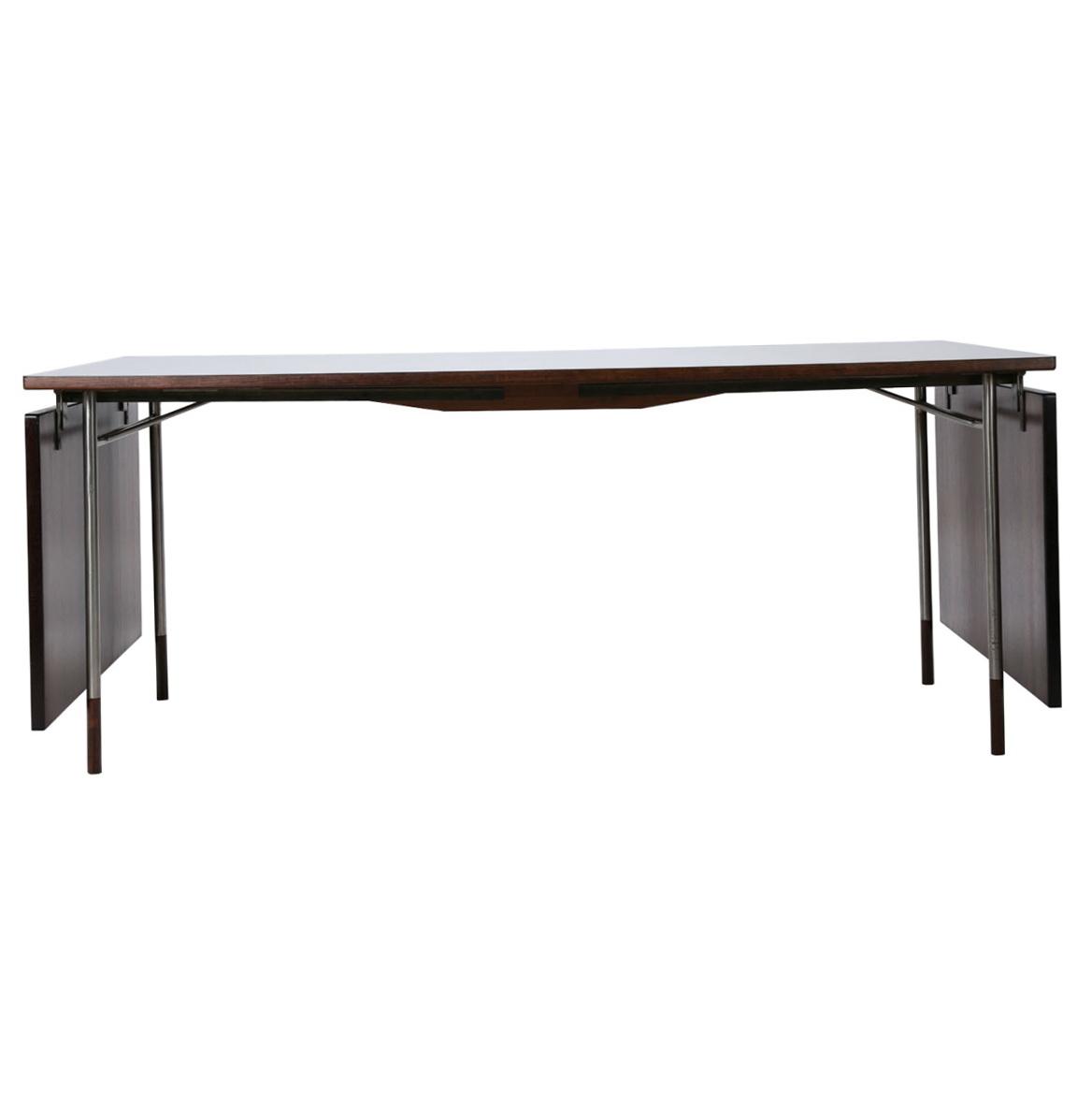 Drop Leaf Console Table Black