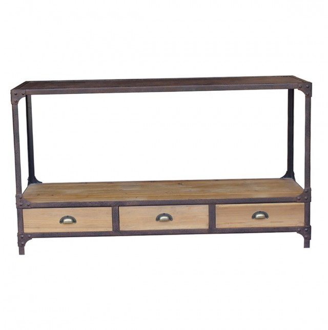 Industrial Console Table Home Decorators
