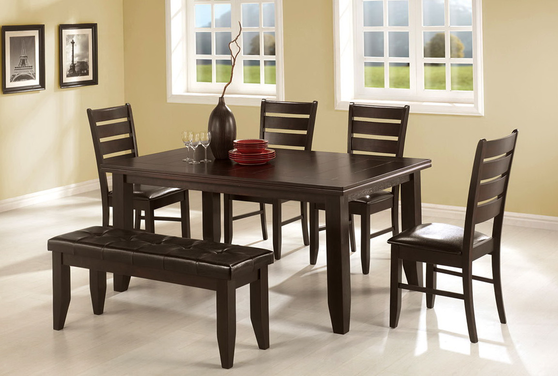 Kitchen Table With Bench Seating And Chairs Kitchen Table With Bench And 4 Chairs Home Design Ideas