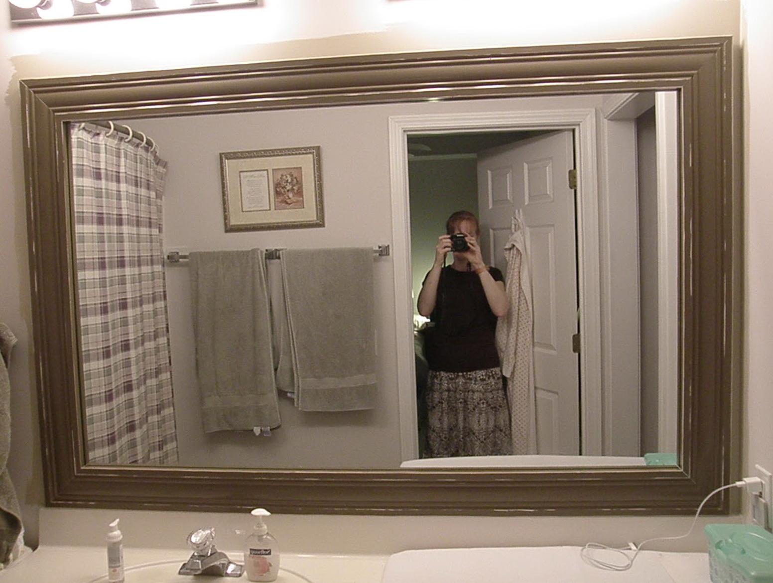 Large Framed Bathroom Mirrors