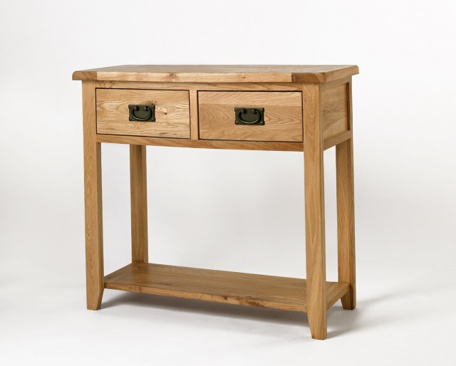 Reclaimed Wood Console Table With Drawers