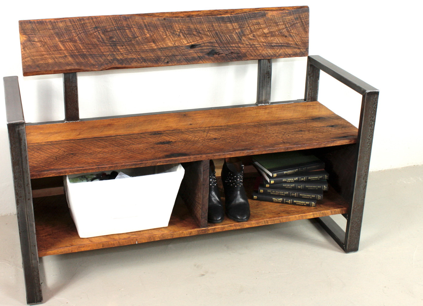 Reclaimed Wood Storage Bench