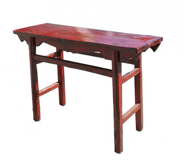 Rustic Red Console Table