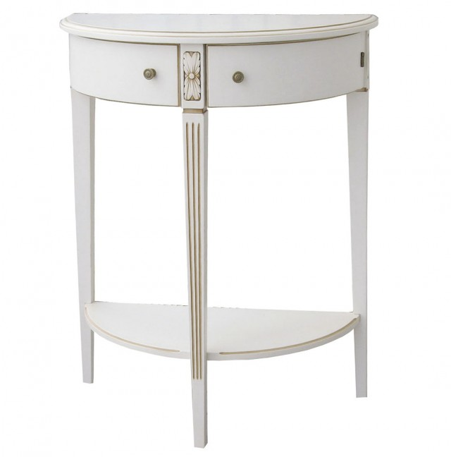 Small Half Moon Console Table
