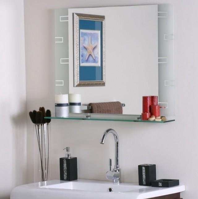 Bathroom Mirror With Shelf And Light