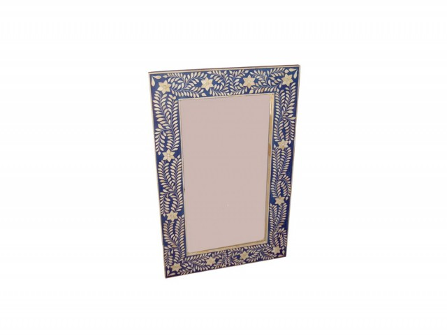Blue Bone Inlay Mirror
