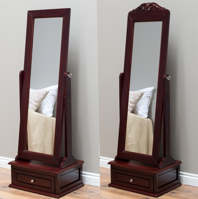 Floor Standing Mirror With Drawer
