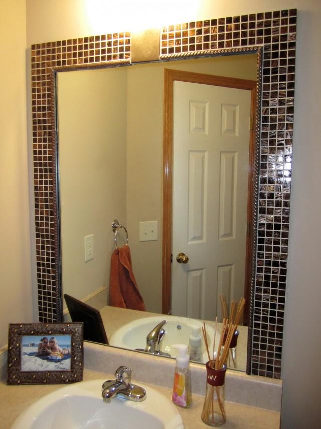 Framing A Bathroom Mirror With Tile