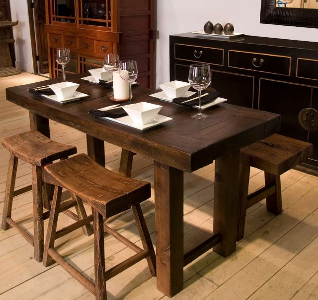 Narrow Dining Tables With Benches