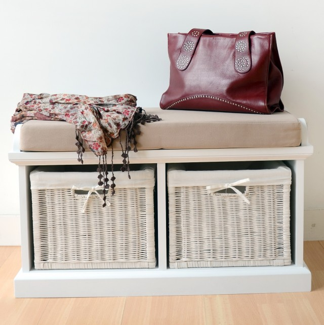 Small Storage Bench With Cushion