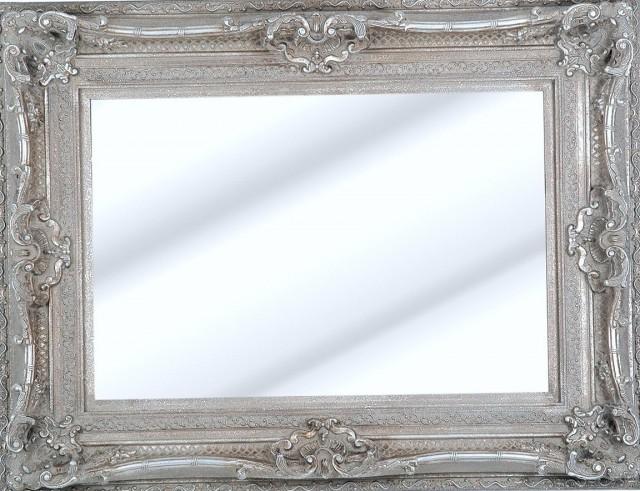 Big Silver Framed Mirror