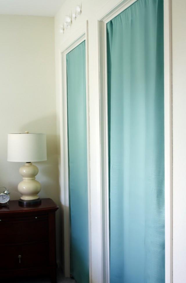 Closet Door Ideas Curtain