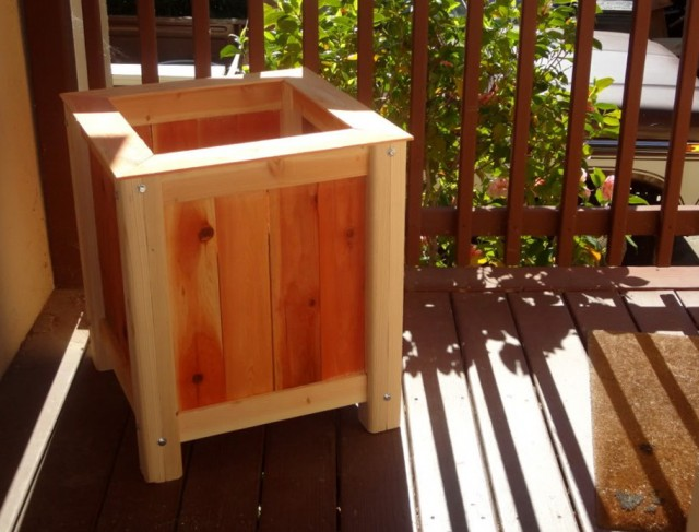 How To Build A Planter Box For A Deck