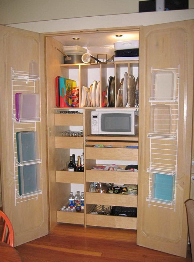 Kitchen Closet Shelving Ideas