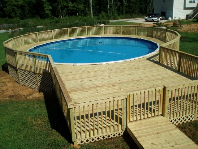 Pool Deck Plans Above Ground
