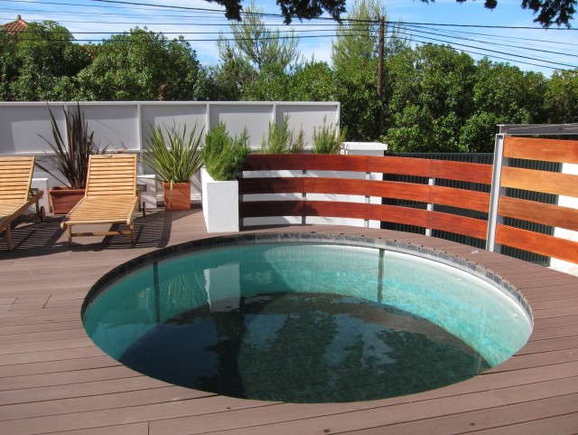 Round Pool Deck Plans