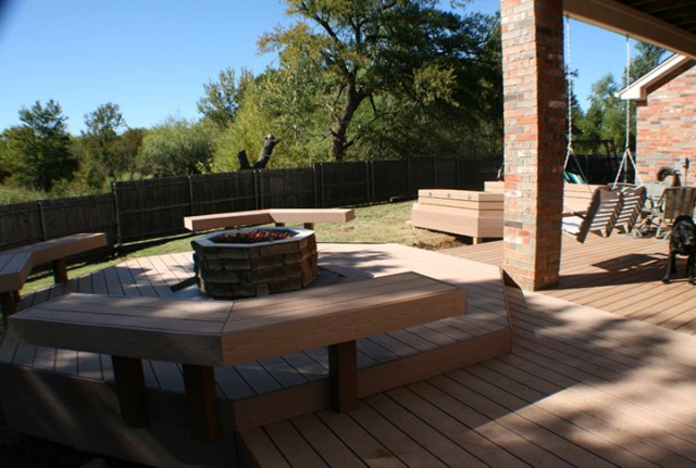 Floating Deck With Fire Pit
