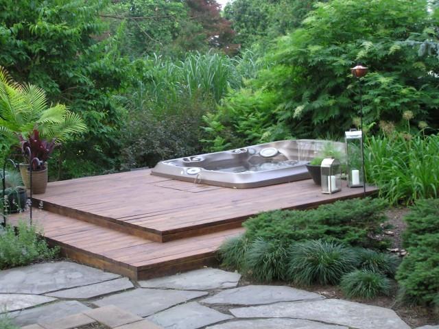 Hot Tub Deck Designs Pictures