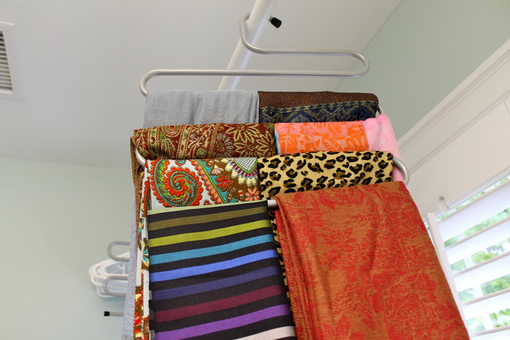 How To Organize Scarves In Your Closet