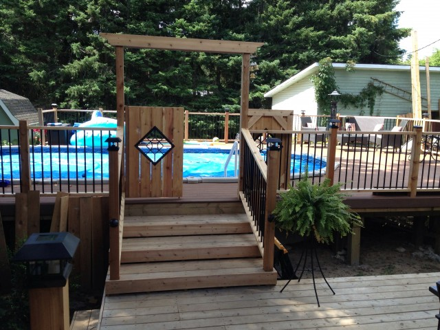 Above Ground Pool Deck Ideas Pinterest