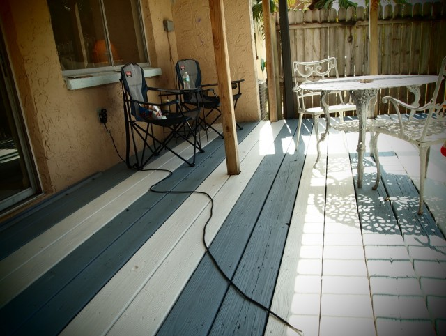 Painting A Deck Blue