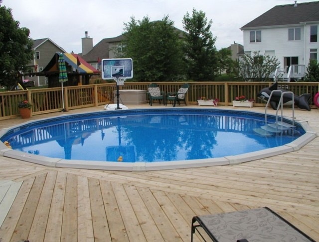Pictures Of Above Ground Pools With Decks Around It