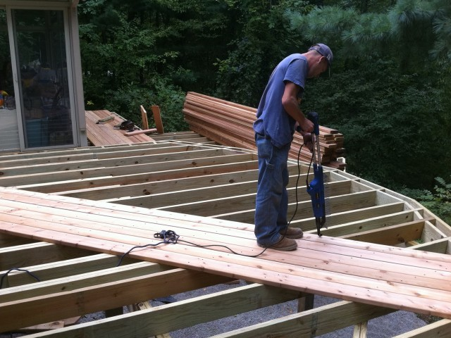 Laying Deck Boards At An Angle