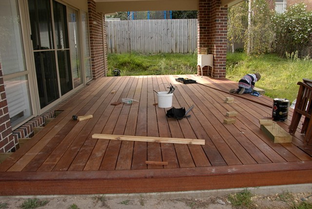 Laying Deck Boards On Concrete