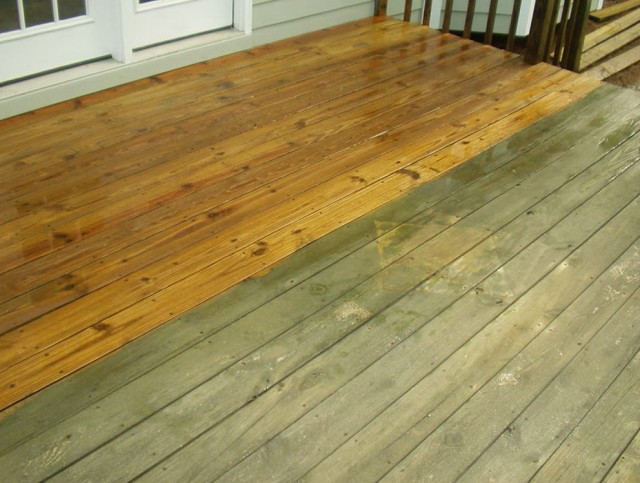 Power Wash Deck Splinters