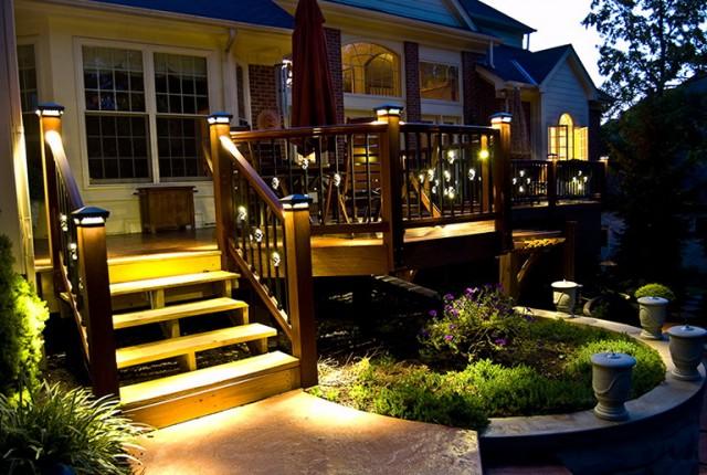 Deck Post Solar Lights Costco