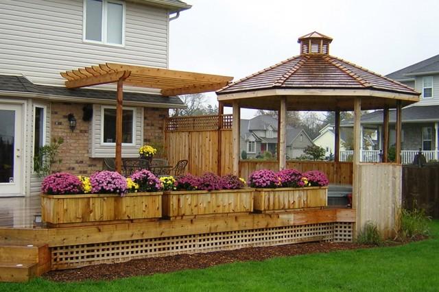 Deck With Gazebo Plans