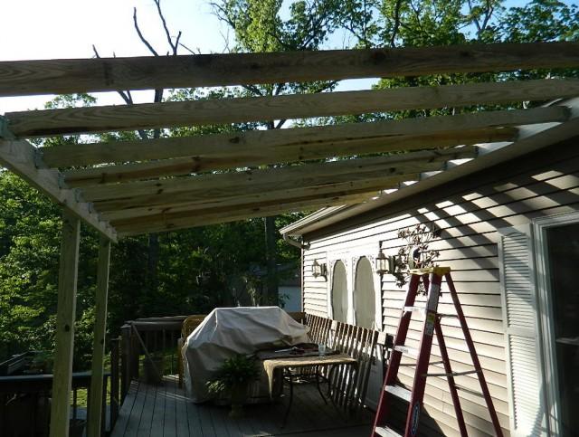 Metal Roof Over Deck