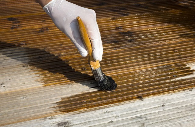 Staining A Deck Rain