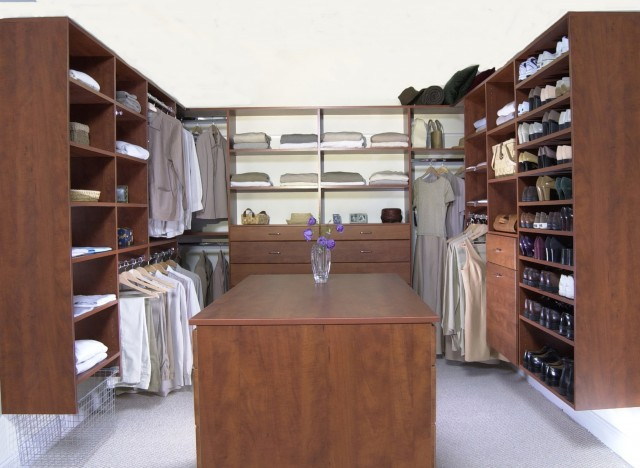 Walk In Closet Island Storage