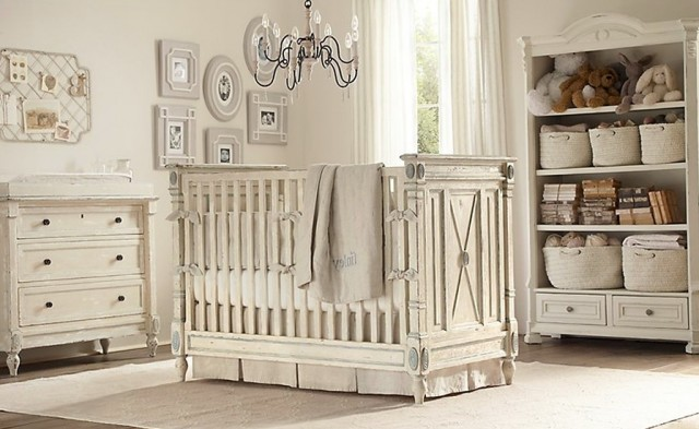 Baby Girl Nursery With Chandelier