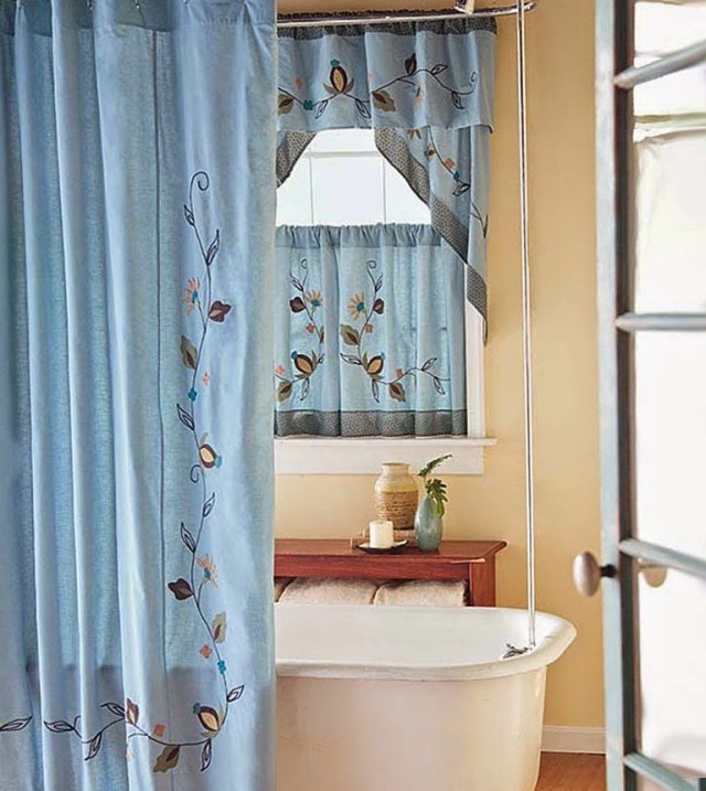 Bathroom Shower Curtains And Window Curtains
