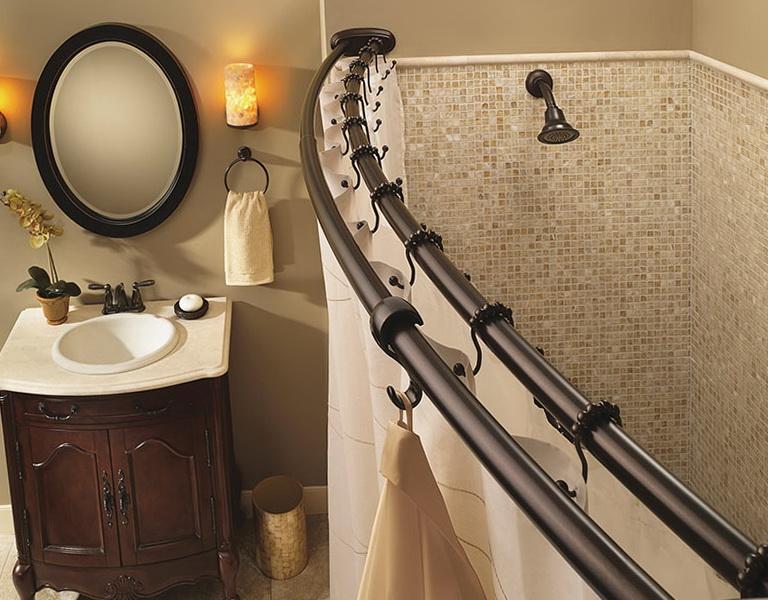 Double Shower Curtain Rod Straight