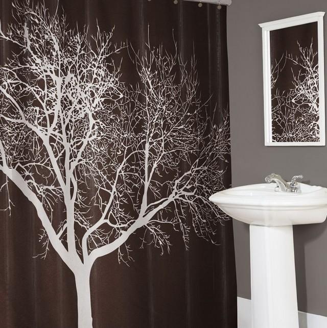 Fabric Shower Curtain Tree