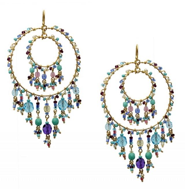 Multi Colored Chandelier Earrings