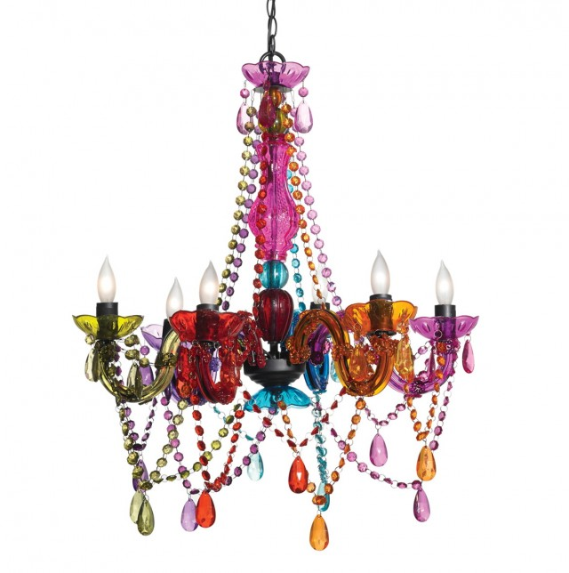 Multi Colored Glass Chandeliers