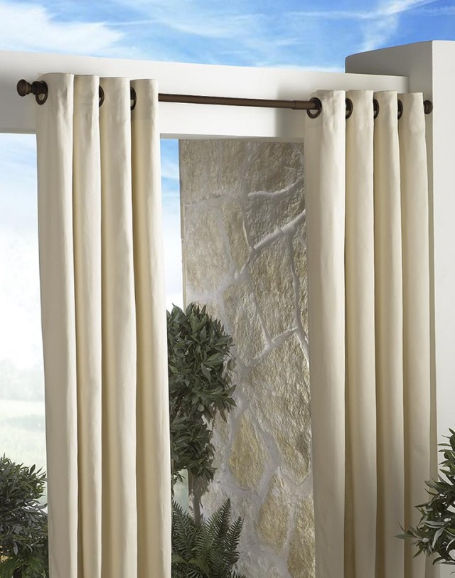 Outdoor Shower Curtain Rods